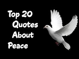 top 20 selected quotes about peace
