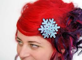 christmas hair accessories snowflake hair clip christmas barrette various colours