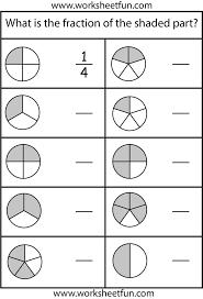 easy fraction worksheets worksheets