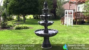 outdoor floor fountain landscape garden water feature courtyard