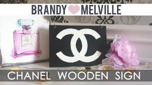 Chanel Inspired Home Decor Diy Room Decor Brandy Melville Inspired Chanel Wooden Sign How