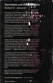 darwinism and human affairs richard d alexander 9780295959016