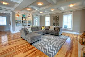 charcoal gray couch living room contemporary with beige coffered