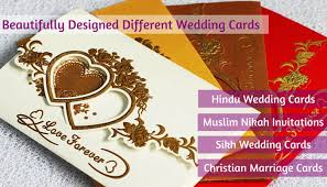 marriage cards beautiful different types of indian wedding invitation cards