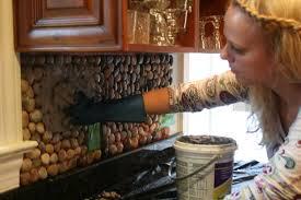 Do It Yourself Backsplash Ideas by Kitchen Garden Stone Kitchen Backsplash Tutorial How To Easy Tiles