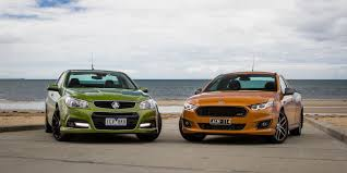 falcon xr6 turbo ute v holden ute ss v redline comparison review