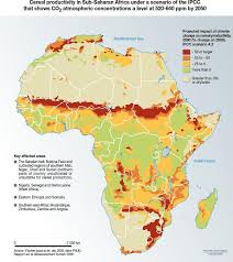 africa map climate zones more less food climate change causes cereal