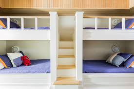 Build Bunk Bed With Stairs by Bunk Beds With Built In Staircase Cottage Boy U0027s Room