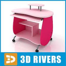 Kid Computer Desk Computer Desk 3d Model