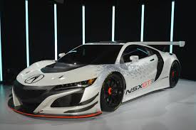 hybrid acura acura nsx gt3 hits new york as pure racecar no hybrid means rwd