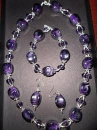 necklace making beaded jewelry images Amethyst bead necklace design idea jpg