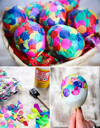 paper easter eggs diy paper mache confetti eggs hello glow