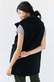 Without Walls Clothing by Without Walls Long Sherpa Vest In Black Lyst