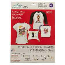 jolee u0027s boutique iron on transfer paper for white fabric