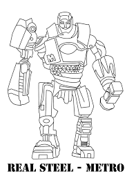 real steel coloring pages coloring pages robot coloring page