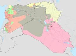 Syria And Iraq Map by Kartenmaterial