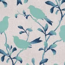Teal Bird Curtains Birds Of A Feather Pool Bird Fabric Fabrics And Living Rooms