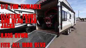 stellar toy hauler floor plans 2016 can am 1000 turbo fits in 1 2 ton towable 25 foot wildwood