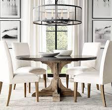 rh u0027s 20th c reclaimed pine u0026 38 zinc trestle round dining table