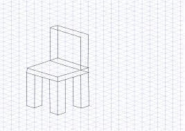 awesome isometric drawing chair photos best idea home design