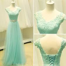mint lace prom dress lace prom dress cap sleeve prom dress prom