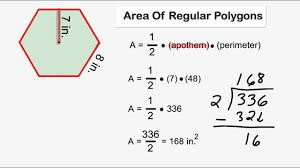 area of regular polygons youtube