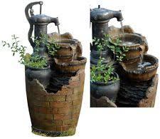 disney mickey garden fountain with planter outdoor water patio