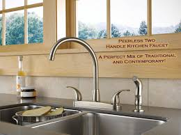 Traditional Kitchen Faucet by Peerless Two Handle Kitchen Faucet U2013 A Perfect Mix Of Traditional