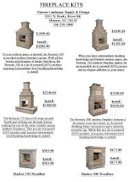 outdoor fireplace kits for the charlotte area visions landscape