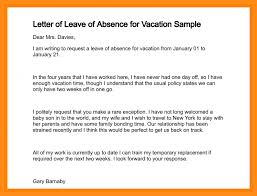 business letter requesting leave of absence cover letter sample