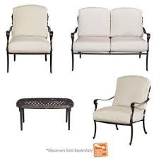 Aluminum Patio Chairs by Cast Aluminum Patio Conversation Sets Outdoor Lounge Furniture