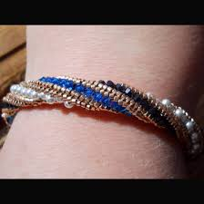 Bead Jewelry Making Classes - diy beaded jewelry channeled tubular herringbone weaving stitch