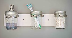 Mason Jar Home Decor Ideas Simple Cutton Bud Inside Glass Masion Side Tooth Brush On Nice