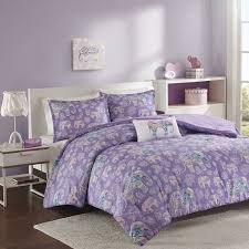 girls purple bedding amazon com mizone mz10 462 mi zone elly comforter set full purple