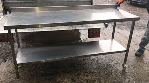 Used Stainless Steel Tables by Secondhand Catering Equipment Stainless Steel Tables 1 01m To