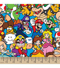 nintendo packed characters cotton fabric joann
