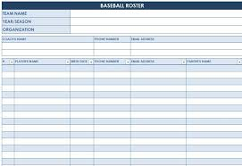 baseball roster template athletic specialties coacher magnetic