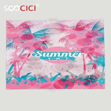 light pink throw blanket custom soft fleece throw blanket summer coconut palm trees retro