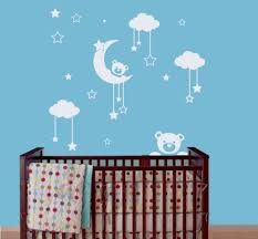 popular moon nursery buy cheap moon nursery lots from china moon vinyl wall decal sticker for kids nursery bedroom teddy bear moon home decor art murals