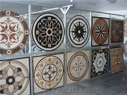 beige marble floor medallions floor tile inlay design pattern