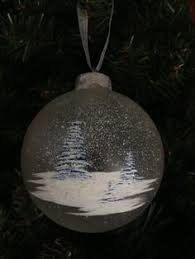 glass painted tree ornament 9 99 via etsy