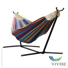 double cotton hammock with stand combo vivere metropolitandecor