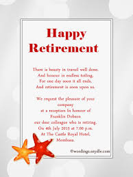 retirement announcement retirement party invitation wording ideas and sles wordings