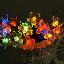 Flower String Lights by Solar Powered Christmas Tree Christmas Lights Decoration
