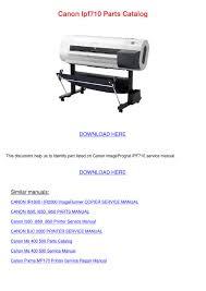 canon printer manuals canon ipf710 parts catalog by vashti canel issuu