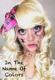 Porcelain Doll Halloween Costumes Cracked Porcelain Doll Halloween Makeup Halloween Makeup