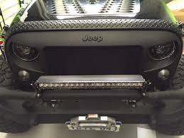 monster jeep jk black signature ripple coating for jeep wrangler grill angry