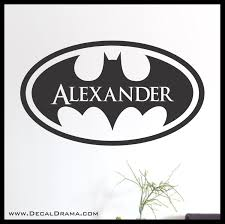 batman personalized logo superhero name vinyl wall decal on storenvy