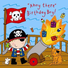 boys birthday pirate cannon boys birthday card 2 40 a great range of pirate