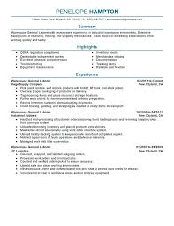 Warehouse Worker Resume Template Sample Resume Of Warehouse Worker Warehouse Worker Resume Sample